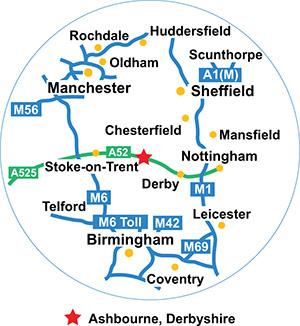 Morrison 50 mile radius map