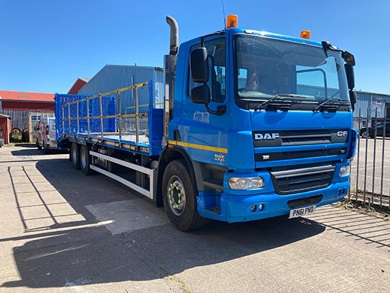 Truck and driver hire front view